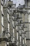 Notre Dame of Paris, France, fragment of gargoyles stock photo