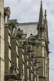 Notre Dame of Paris, France, stone gargoyles royalty free stock photography