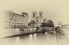 Notre Dame. Paris: The most romantic city in which there is vector illustration