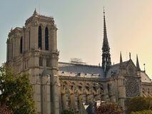 Notre Dame - sunset Stock Photos