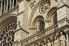 Notre dame paris statues and gargoyles Stock Photo