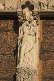 Notre dame paris statues and gargoyles Royalty Free Stock Photo