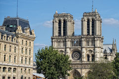 Notre dame paris statues and gargoyles Stock Image