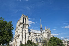 Notre dame paris statues and gargoyles Stock Photography