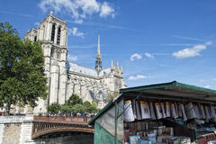 Notre dame paris statues and gargoyles Royalty Free Stock Image