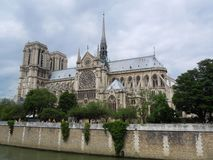 Notre Dame Paris Under Blue Sky Royalty Free Stock Photos