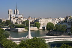 Notre Dame and Pont de la Tourelle Paris Royalty Free Stock Images