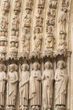 Notre Dame, portal da catedral de Paris Imagens de Stock