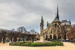 Notre-Dame rear view Royalty Free Stock Images