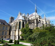 The Notre Dame of Reims. View of the Notre Dame in Reims in the Champagne area of France royalty free stock images