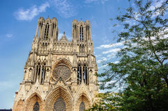Notre-Dame at Reims Royalty Free Stock Photos