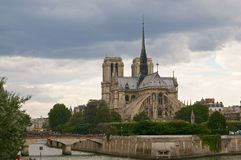Notre Dame from the river Royalty Free Stock Images