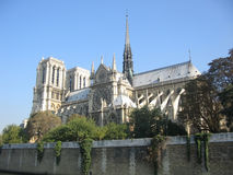 Notre Dame from the river Seine Royalty Free Stock Photos