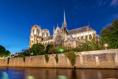 Notre-Dame and the River Seine Stock Photography