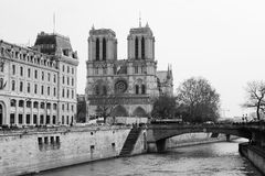 Notre Dame and river Seine, Paris Stock Image