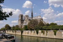 Notre-Dame riverview obrazy royalty free