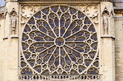 Notre Dame Rose window Royalty Free Stock Photos