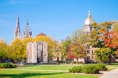 Notre Dame's central campus Royalty Free Stock Images