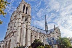 Notre Dame Scene in Paris Stock Image