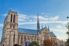 Notre Dame Scene in Paris Stock Images