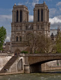 Notre-dame. Seen from road not far Stock Image