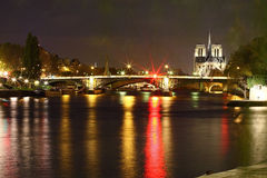 Notre-Dame and Seine River Royalty Free Stock Photos