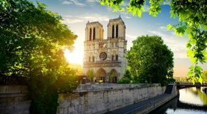 Notre Dame on Seine Royalty Free Stock Image