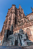 Notre Dame of Strasbourg with miniature Royalty Free Stock Photography