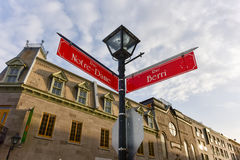 Notre-Dame Street - Montreal Stock Image