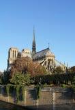Notre Dame at sunrise Stock Photo