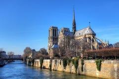 Notre Dame at sunrise - Paris, France Stock Photography