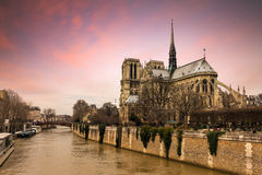 Notre-Dame sunset Royalty Free Stock Photography