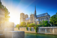 Notre Dame at sunset - Paris, europe Stock Photography