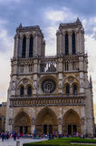 Notre Dame tourist Stock Photography