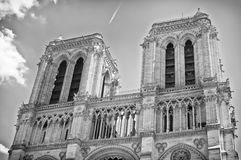 Notre Dame Towers, Paris Stock Photos