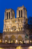 Notre Dame during twilight Royalty Free Stock Image