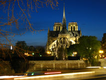 Notre-Dame at twilight Stock Photos