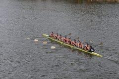 Notre Dame University läuft im Kopf von Charles Regatta Womens Meisterschaft Eights Stockfotografie