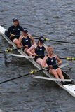 Notre Dame University races in the Head of Charles Regatta women's Championship Fours Royalty Free Stock Photography