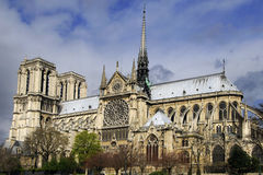 Notre Dame - a view from below, Paris Stock Photography