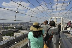 Notre Dame, vista panorâmica, Paris Fotos de Stock