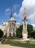 Notre Dame - vue arrière Photos stock