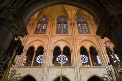 Notre Dame wall through Archway Royalty Free Stock Photo