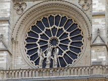 Notre Dame West Rose Window images stock