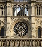 Notre Dame window Stock Images