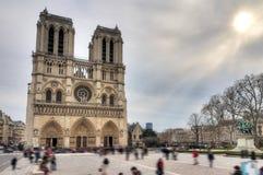 Notre-Dame winter sun Stock Image