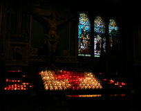 Notre- Dameinnenraum, Montreal Stockbilder
