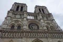Notre- Damekathedrale Denkmäler von Paris Lizenzfreies Stockfoto