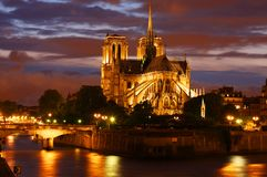 Notre- Damekathedrale in Paris Stockbild