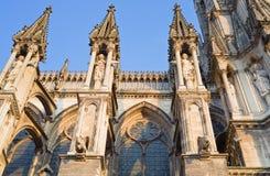 Notre- Damekathedrale in Reims, Frankreich Lizenzfreies Stockbild